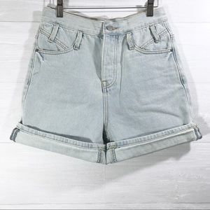 NWT Blank Paige women's High rise jean shorts S